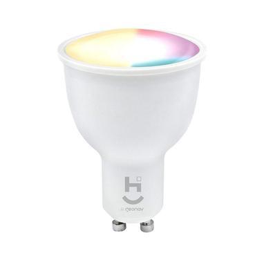 Lâmpada Led Inteligente Rgb+w 2700-6500ksoquete Gu10 Wi-fi + Bluetooth - Hi Geonav