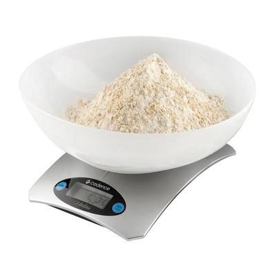 Balança De Alta Precisão Cadence Utilita Para Cozinha Bateria, Branco - Bal153