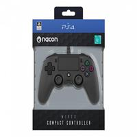 Controle Nacon Wired Compact Controller Black (com Fio, Preto) - Ps4 E Pc