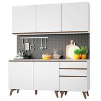 Cozinha Compacta Madesa Reims, 5 Portas, com Balcão, 3 Gavetas, Branco