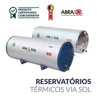 Aquecedor Solar Via Sol Reservatório 600l Chuveiro Torneira