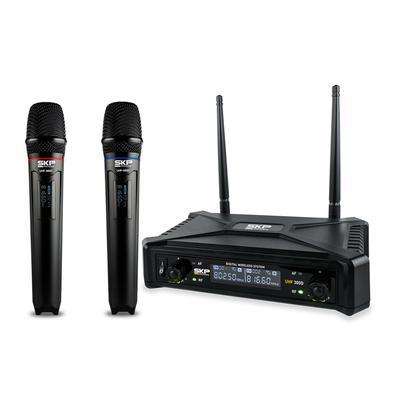 Microfone Digital Sem Fio De Mao Duplo Uhf 300d
