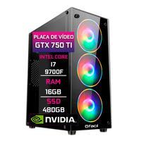 Computador Pc Gamer Fácil, Intel Core I7 9700f 16gb, Geforce Gtx 750ti, 4gb Ddr4, Ssd 480gb, Fonte 500w