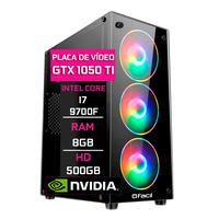 Pc Gamer, Fácil Intel Core I7 9700f, 8gb Ddr4 2666 Mhz, Geforce Gtx 1050ti 4gb, Hd 500gb, Fonte 500w