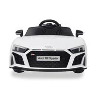 Mini Carro Eletrico Audi R8 Spyder Branco 12v C/ Som E Luz Bw123br Importway