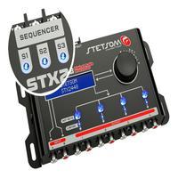 Processador Audio Automotivo Stetsom Stx-2448 4 Canais Digital Crossover Equalizador Gain Delay Phas Stetsom Processador 2448