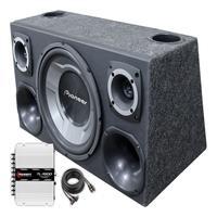 Caixa Som Automotivo Trio Sub Pioneer + Taramps Tl1500