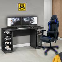 Cadeira Escritório Gamer Moobx Thunder Deluxe + Mesa Gamer Xp