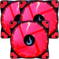 Kit Com 3 Cooler - Fan Rise Mode, 120mm, Led Vermelho Rm-wn-01-br
