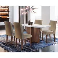 Conjunto Sala De Jantar Olimpia Com 4 Cadeiras Grécia Rufato