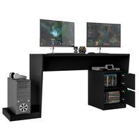 Mesa Para Computador Notebook Pc Gamer Strike Bmg-01 Preto B03 Fosco - Lyam Decor