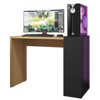 Mesa Para Computador Notebook Pc Gamer Magic B01 Freijó Com Preto - Lyam Decor