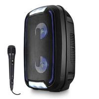 Caixa de Som Multilaser Mini Torre 200W SP336 com Microfone