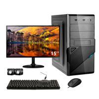 Computador Completo Corporate I3 8gb 240gb Ssd Dvdrw Windows 10 Monitor 15
