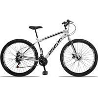 Bicicleta Aro 29 Dropp Sport 21v Garfo Rigido, Freio A Disco - Branco/preto - 19'' - 19''