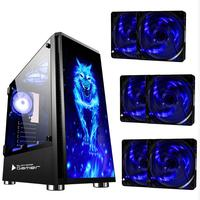 Gabinete Gamer Bg026  Wolf Usb 3.0 Preto C/ 6 Coolers Azul Inclusos