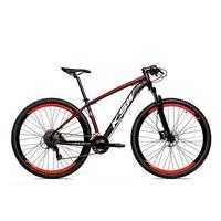 Bicicleta Alum 29 Ksw Cambios Gta 27 Vel Freio Disco Hidráulica - 21´´ - Preto/vermelho