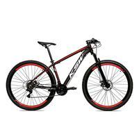 Bicicleta Alumínio Aro 29 Ksw 24 Velocidades Freio A Disco Krw16 - 21'' - Preto/vermelho
