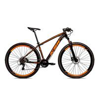 Bicicleta Alumínio Aro 29 Ksw 24 Velocidades Freio  Hidráulico Krw17 - 19´´ - Preto/laranja Fosco