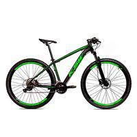 Bicicleta Alumínio Ksw Shimano Altus 24 Vel Freio Hidráulico E Cassete Krw19 - 19´´ - Preto/verde Fosco