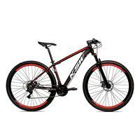 Bicicleta Alumínio Ksw Shimano Altus 24 Vel Freio Hidráulico E Suspensão Com Trava Krw18 - 21´´ - Preto/vermelho