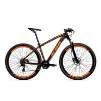 Bicicleta Alumínio Ksw Shimano Altus 24 Vel Freio Hidráulico E Cassete Krw19 - 17´´ - Preto/laranja Fosco