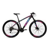 Bicicleta Alumínio Aro 29 Ksw 24 Velocidades Freio A Disco Krw16 - Preto/azul E Rosa - 15.5''