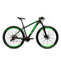 Bicicleta Alum 29 Ksw Shimano 27v A Disco Hidráulica Krw14 - 17´´ - Preto/verde Fosco