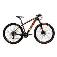 Bicicleta Alum 29 Ksw Cambios Gta 27 Vel Freio Disco Hidráulica - Preto/amarelo E Vermelho - 15.5´´