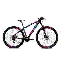 Bicicleta Alum 29 Ksw Cambios Gta 24 Vel A Disco Ltx Hidráulica - Preto/azul E Rosa - 15.5´´