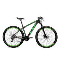 Bicicleta Alumínio Aro 29 Ksw 24 Velocidades Freio A Disco Krw16 - 21´´ - Preto/verde Fosco