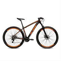 Bicicleta Alumínio Aro 29 Ksw 24 Velocidades Freio A Disco Krw16 - 19´´ - Preto/laranja Fosco
