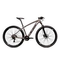 Bicicleta Alumínio Ksw Shimano Altus 24 Vel Freio Hidráulico E Suspensão Com Trava Krw18 - 15.5´´ - Grafite/preto Fosco