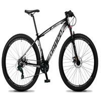 Bicicleta Aro 29 Dropp Rs1 Pro 21v Tourney Freio Disco/trava - Cinza/branco - 19