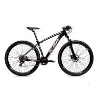 Bicicleta Alumínio Ksw Shimano Altus 24 Vel Freio Hidráulico E Cassete Krw19 - 19´´ - Preto/prata