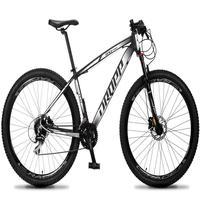 Bicicleta Aro 29 Dropp Rs1 Pro 24v Acera Freio Hidra E Trava - Preto/branco - 19´´ - 19´´