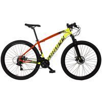 Bicicleta Aro 29 Dropp Z7x 21v Shimano, Suspen E Freio Disco - Vermelho/amarelo E Preto - 17´´ - 17´´