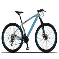 Bicicleta Aro 29 Dropp Z3x 21v Suspensão E Freio Disco - Cinza/azul - 21''