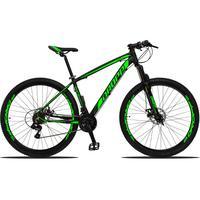 Bicicleta Aro 29 Dropp Z3 21v Shimano, Suspensão Freio Disco - Preto/verde - 17''