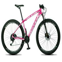 Bicicleta Aro 29 Dropp Rs1 Pro 27v Alivio, Fr. Hidra E Trava - Rosa/branco - 19