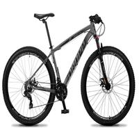 Bicicleta Aro 29 Dropp Rs1 Pro 21v Tourney Freio Disco/trava - Cinza/preto - 15
