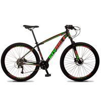 Bicicleta Aro 29 Gt Sprint Volcon 21v Suspensão, Freio Disco - Preto/vermelho E Verde - 21´´ - 21´´