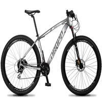 Bicicleta Aro 29 Dropp Rs1 Pro 24v Acera Freio Hidra E Trava - Cinza/branco - 21