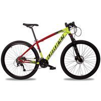 Bicicleta Aro 29 Dropp Z7x 27v Susp C/trava Freio Hidraulico - Vermelho/amarelo E Preto - 21''