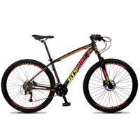 Bicicleta Aro 29 Gt Sprint Volcon 21v Suspensão, Freio Disco - Preto/vermelho E Amarelo - 15´´ - 15´´