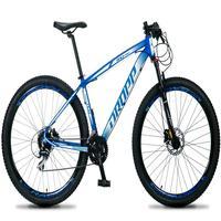 Bicicleta Aro 29 Dropp Rs1 Pro 24v Acera Freio Hidra E Trava - Azul/branco - 15