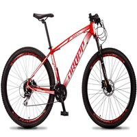 Bicicleta Aro 29 Dropp Rs1 Pro 24v Acera Freio Hidra E Trava - Vermelho/branco - 17´´ - 17´´