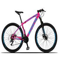 Bicicleta Aro 29 Dropp Z3x 21v Suspensão E Freio Disco - Rosa/azul - 17''