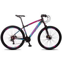 Bicicleta Aro 29 Dropp Z4x 24v Susp C/trava Freio Hidraulico - Preto/azul E Rosa - 15´´ - 15´´