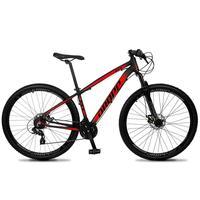 Bicicleta Aro 29 Dropp Z4x 24v Suspensão E Freio A Disco - Preto/vermelho - 21''